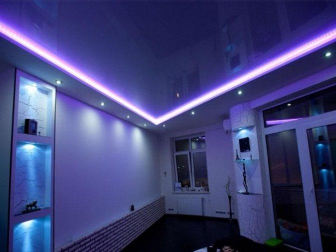 Системы освещения для натяжных потолков