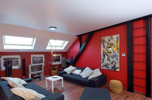 Бесшовный потолок - мансарда