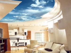 Дизайнерские решения с натяжными потолками